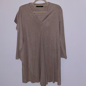 Tan Suede Zara Dress